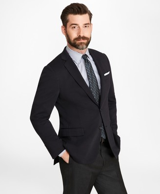 Brooks Brothers Regent Fit Two-Button Wool Jersey Blazer