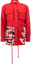 Faith Connexion printed military style jacket - men - Cotton - S