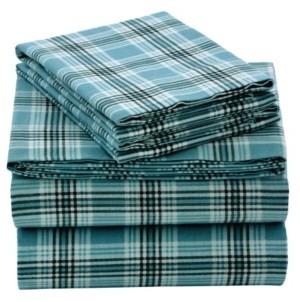 EnvioHome Flannel Sheet Set, Full Bedding
