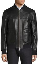 Bally Reversible Leather Bomber Jacket