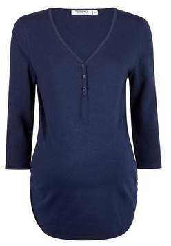 Dorothy Perkins Womens **Maternity Navy Button Top