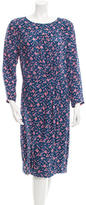 Band Of Outsiders Silk Floral Print Dress w/ Tags