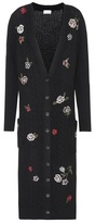 RED Valentino Long wool-blend cardigan