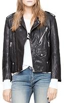 Zadig & Voltaire Liya Deluxe Leather Moto Jacket