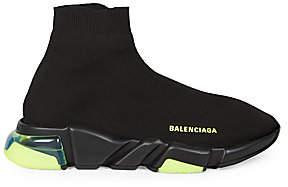 Balenciaga Men's Speed Logo Sock Sneakers