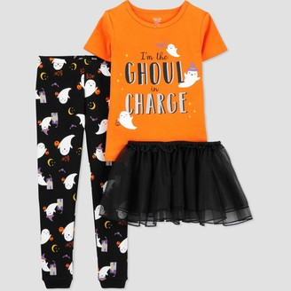 Just One You Made By Carter's Toddler Girls' 3pc Halloween Pajama Set - Just One You® made by carter's Orange/Black
