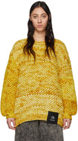 S.R. Studio. La. Ca. S.R. STUDIO. LA. CA. Yellow Hand-Knit Honeycomb Sweater