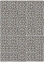 Jonathan Adler Black Greek Key Reversible Peruvian Flat Weave Rug