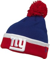 New Era Youths NFL New York Giants Knitted Bobble Hat Blue