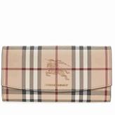 Burberry Haymarket Check Continental Wallet - Tan