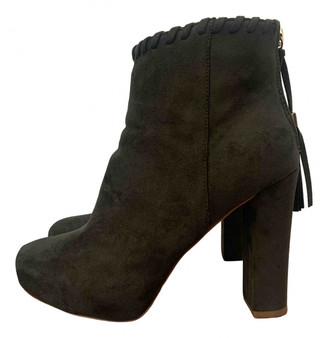 Non Signã© / Unsigned Yellow Suede Boots