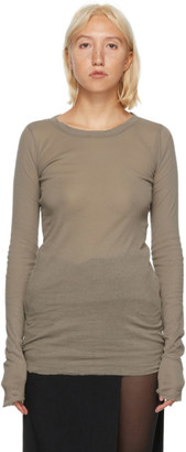 Rick Owens Grey Long Sleeve T-Shirt