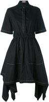 J.W.Anderson draped shirt dress - women - Cotton - 10