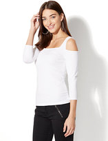 New York & Co. Tee Luxe - Cold-Shoulder Top