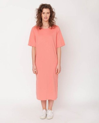 Beaumont Organic Ellie Organic Cotton Dress In Blush - Blush / Extra Small