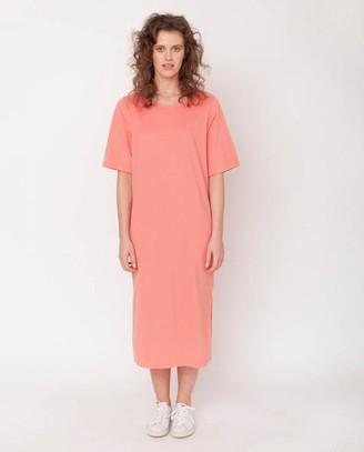 Beaumont Organic Ellie Organic Cotton Dress In Blush - Blush / Extra Small