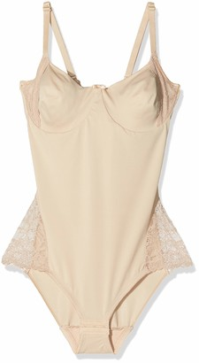Naomi & Nicole Women's Body Gainant Nude-A Little Lace A Lot of Shape Underwear 90C