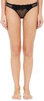 YASMINE ESLAMI Women's Morgane Tulle Bikini Briefs-BLACK