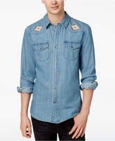 GUESS Men's Western Denim Cotton Shirt