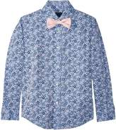 Tommy Hilfiger Long Sleeve Floral Print Shirt w/ Bow Tie Boy's Clothing