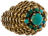Ring 18K Turquoise Cluster