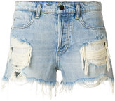 Alexander Wang ripped denim shorts