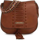 Steve Madden Women's Keegan Crossbody Bag -Cognac Faux Leather