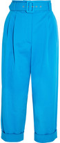 Isa Arfen Safari Cropped Cotton-blend Twill Tapered Pants - Cobalt blue