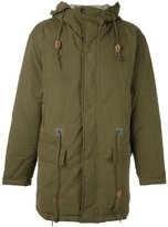 Closed hooded coat