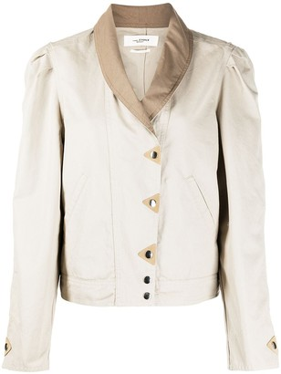 Etoile Isabel Marant Off-Centre Press Stud Jacket