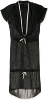 Chanel Pre Owned draped neck drawstring dress