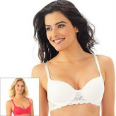 Lily of France Bras: Value 2-pk. Lace Convertible Push-Up Bra 2179541 - Women's