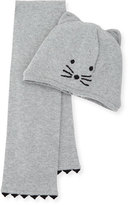 Karl Lagerfeld Baby Hat and Scarf Set, Gray