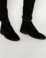 Asos High Desert Boots in Black Suede