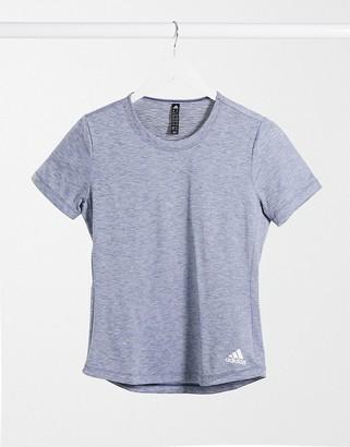 adidas T-Shirt In Tech Indigo Melange