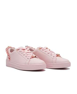 Ted Baker Astrina Ruffle Detail Trainers Colour: BABY PINK, Size: UK 3