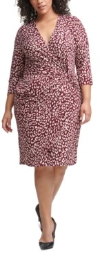 Jessica Howard Plus Size Side-Twist Dress