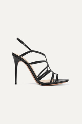 Alexandre Birman Emma Cage Leather Sandals - Black