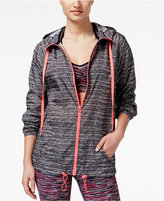 Material Girl Active Juniors' Printed Hooded Jacket, Only at Macy's
