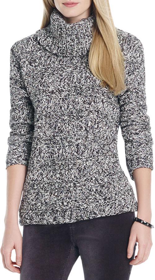 Jones New York Dolman Sleeve Cowl Neck Sweater