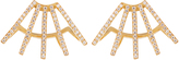 AZLEE Circuit diamond & yellow-gold earrings