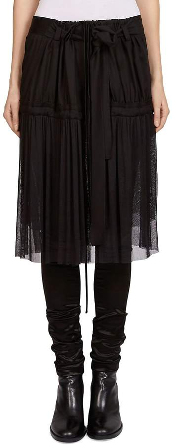 Ann Demeulemeester Women's Woven Tulle Skirt