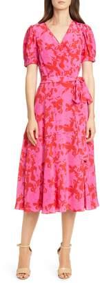 Tanya Taylor Dorothy Silk Wrap Dress