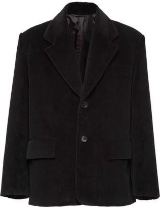 Prada Corduroy Single-Breasted Jacket