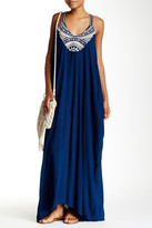Love Stitch Embroidered Gauze Maxi Dress