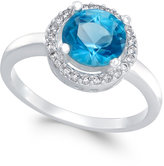 Charter Club Silver-Tone Blue Stone Pavé Ring, Only at Macy's