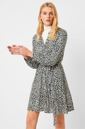 French Connection Vasha Meadow Jersey Printed Shirt Dress