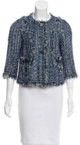Tory Burch Fringe-Trimmed Tweed Jacket
