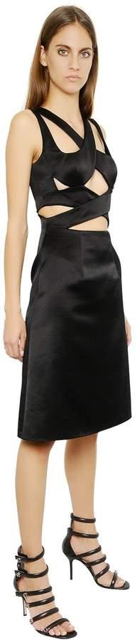 Christopher Kane Silk Satin Bondage Dress