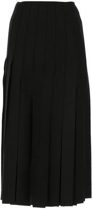 Prada Maxi Fringe Midi Skirt